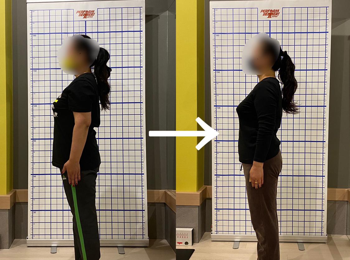 3ヵ月間のトレーニング成果/痛みや不調を改善できるパーソナルジム